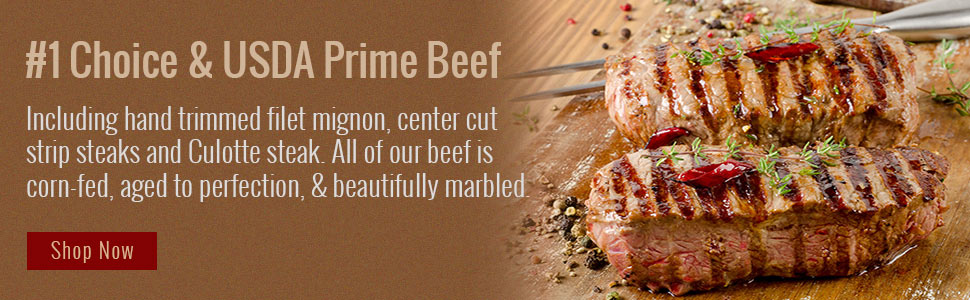 USDA Prime and #1 Choice Beef online ordering